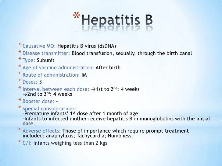 Considerations Before And After Hepatitis B Vaccine Administration