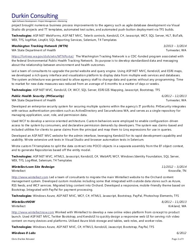 Asp Net Experience Resume Sample. resume for 4 years of experience ...