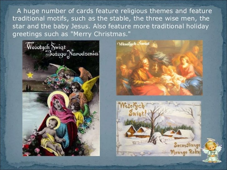 Christmas Traditions In Poland Christmas Cards