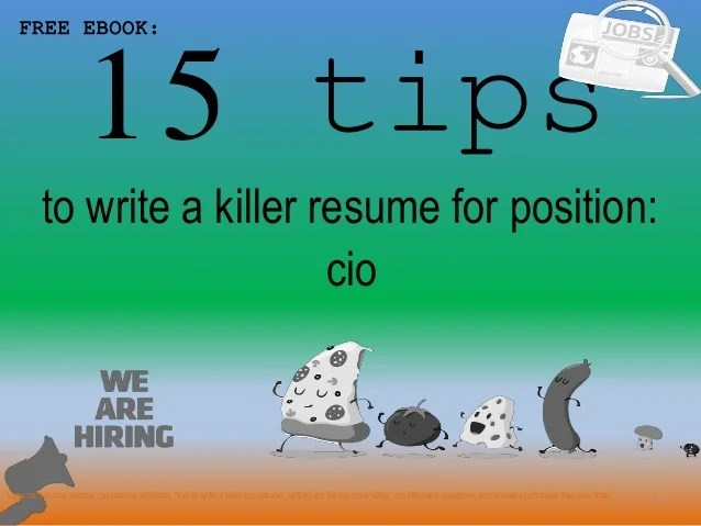 Cio resume sample pdf ebook free download 15 tips 1 to write a killer resume for position  FREE EBOOK  cio Tags