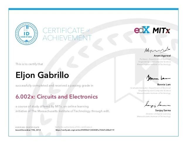 Circuits And Electronics Mitx