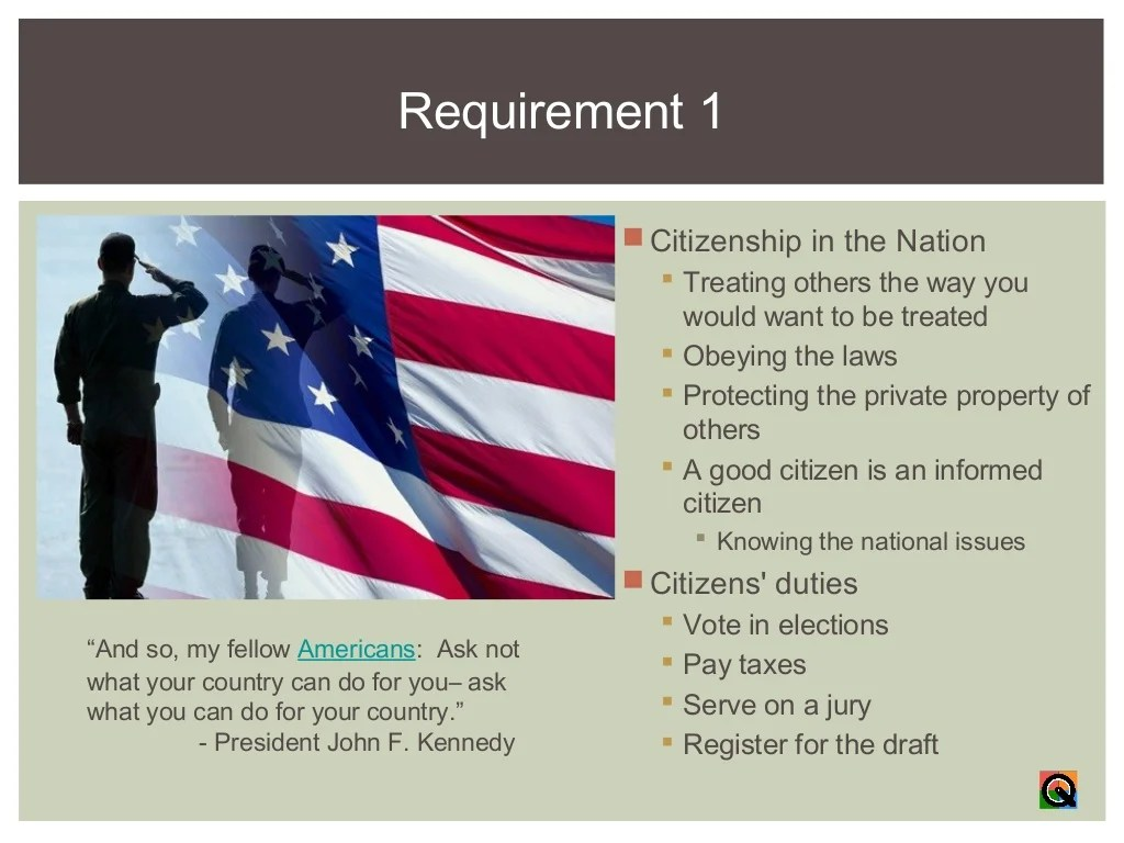 Citizenship In The Nation Merit Badge Course