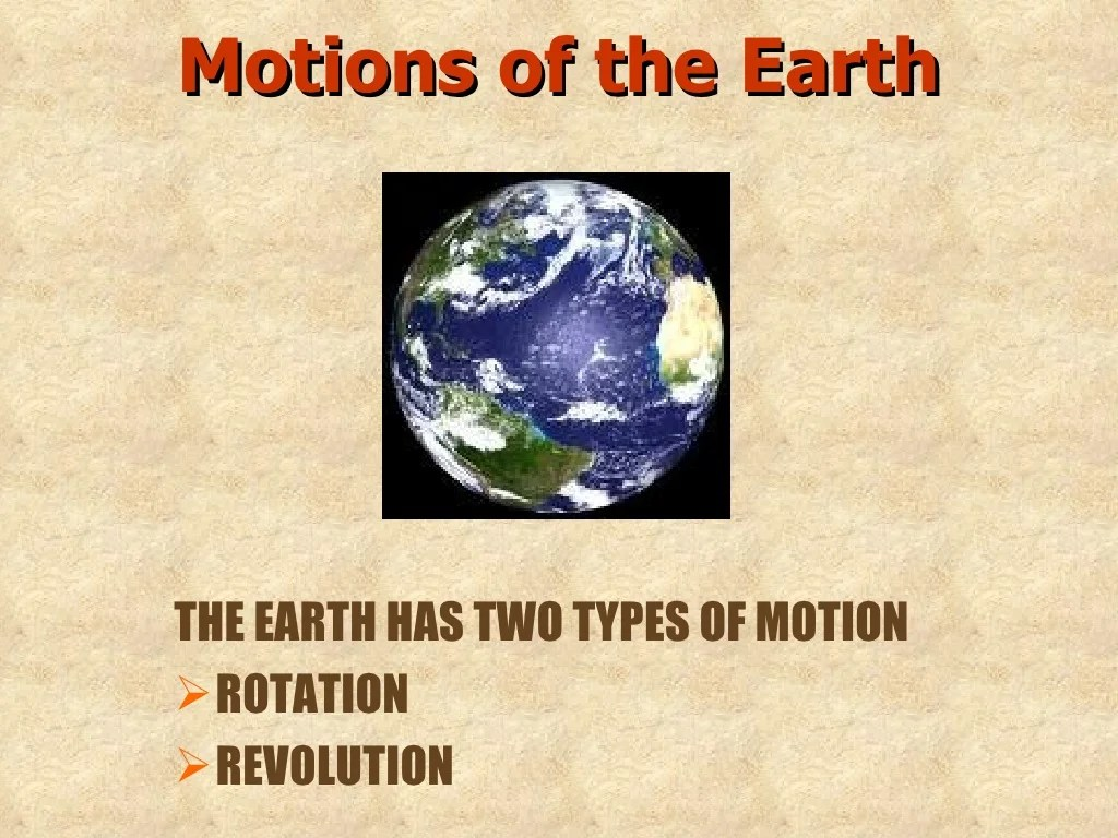 Class6 Earth Rotation And Revolution