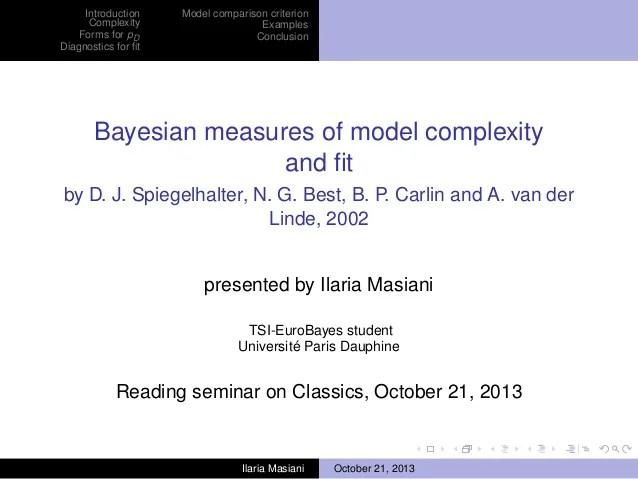 Bayesian model evaluation   Xi'an's Og