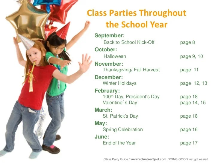 Classroom Party Ideas