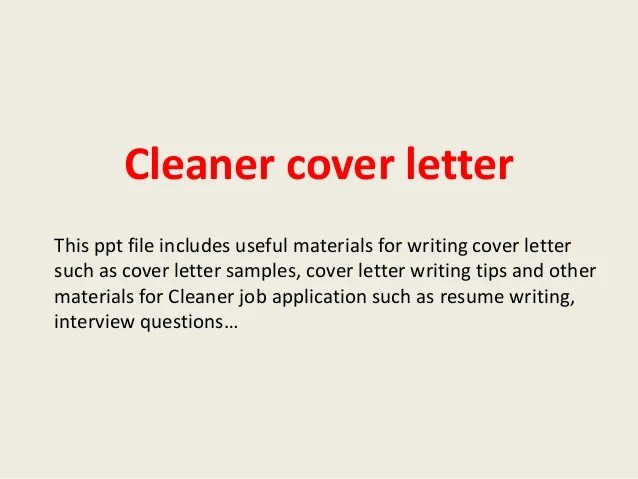 no experience cover letter for housekeeping