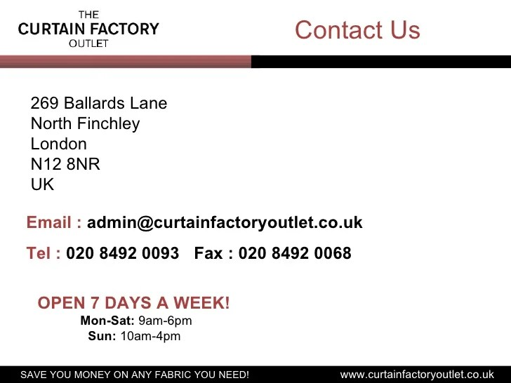 the curtain factory outlet designer