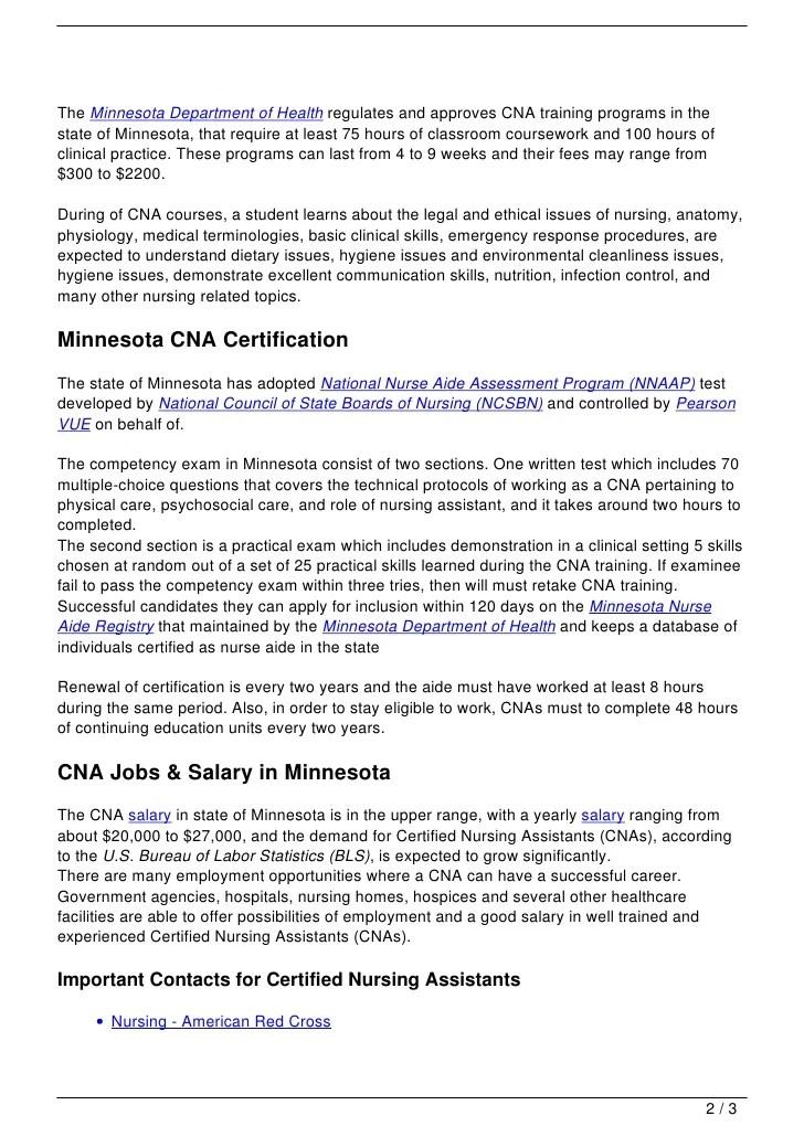 Cna Education Guide Sample User Manual