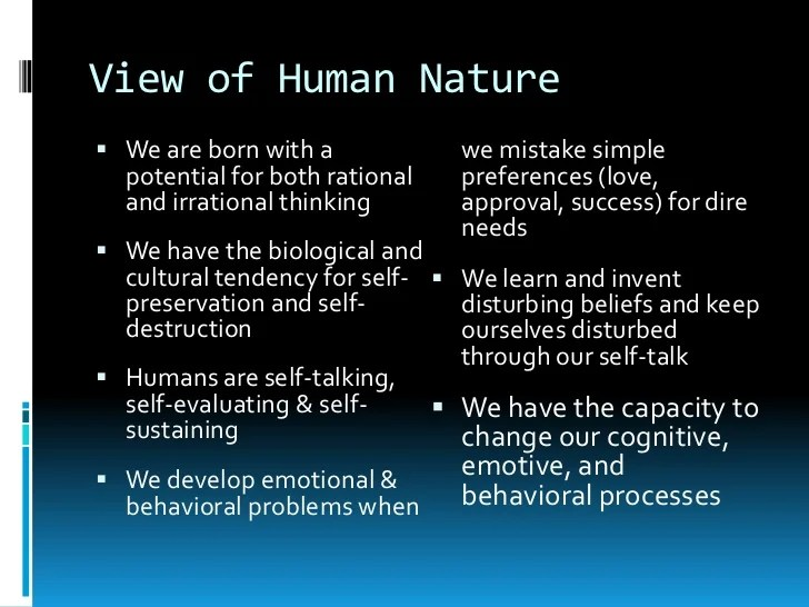 Image result for human nature is the real core problem