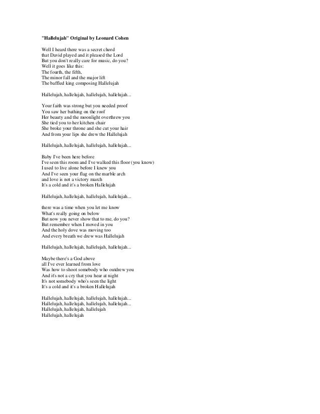 Leonard Cohen Hallelujah Chords Piano Images Chord Guitar Finger