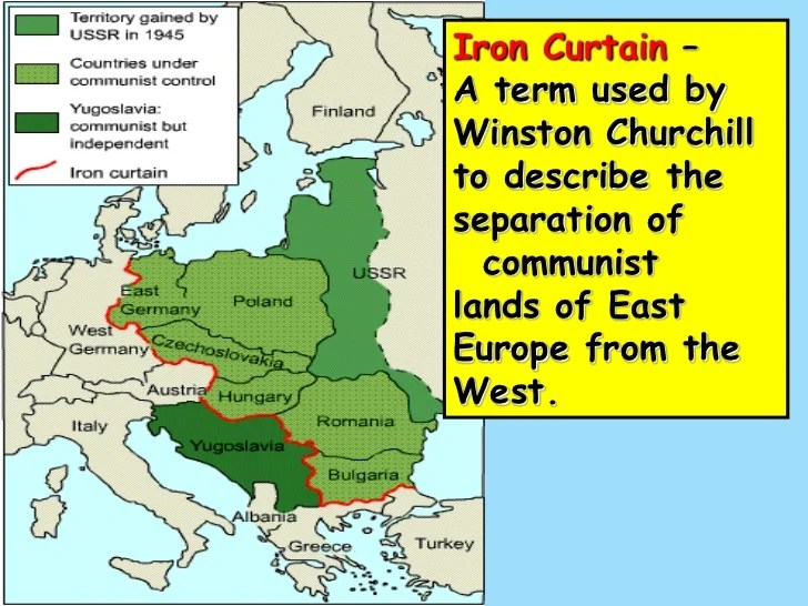Iron Curtain Cold War Map Gopelling Net
