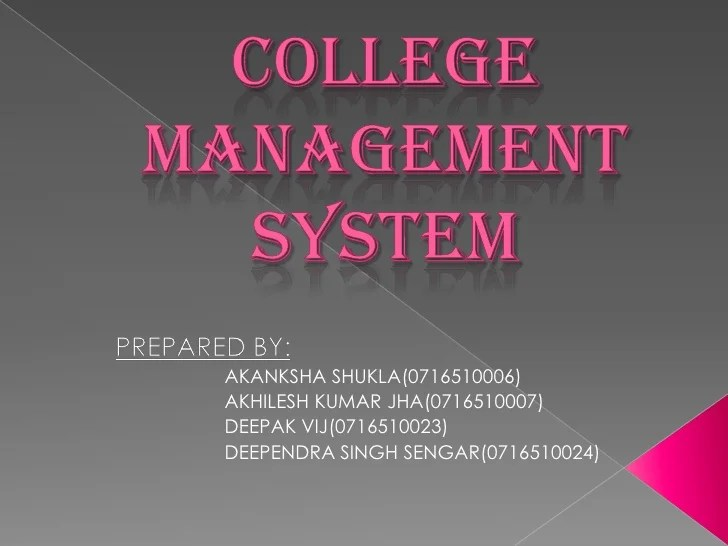College management project