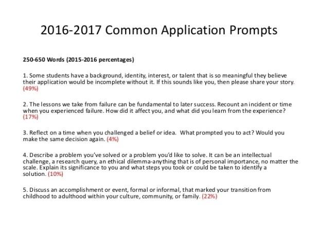 Common App Essay Prompts 2016 17 | Mistyhamel