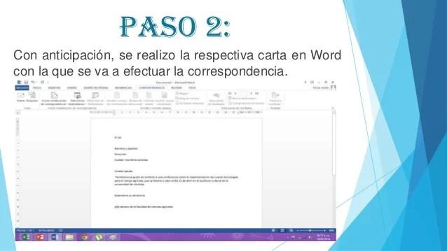 Combinacin De Correspondencia En Word 2013