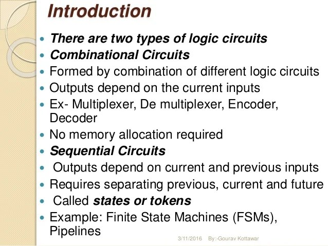 Combinational Circuits & Sequential Circuits
