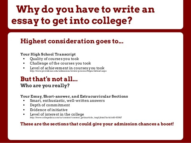 Popular college entrance essays