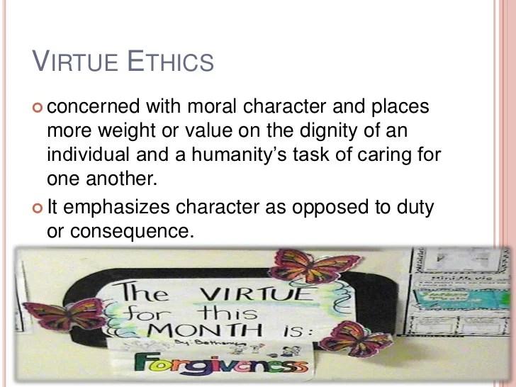 Virtue Process Making Ethics Decision