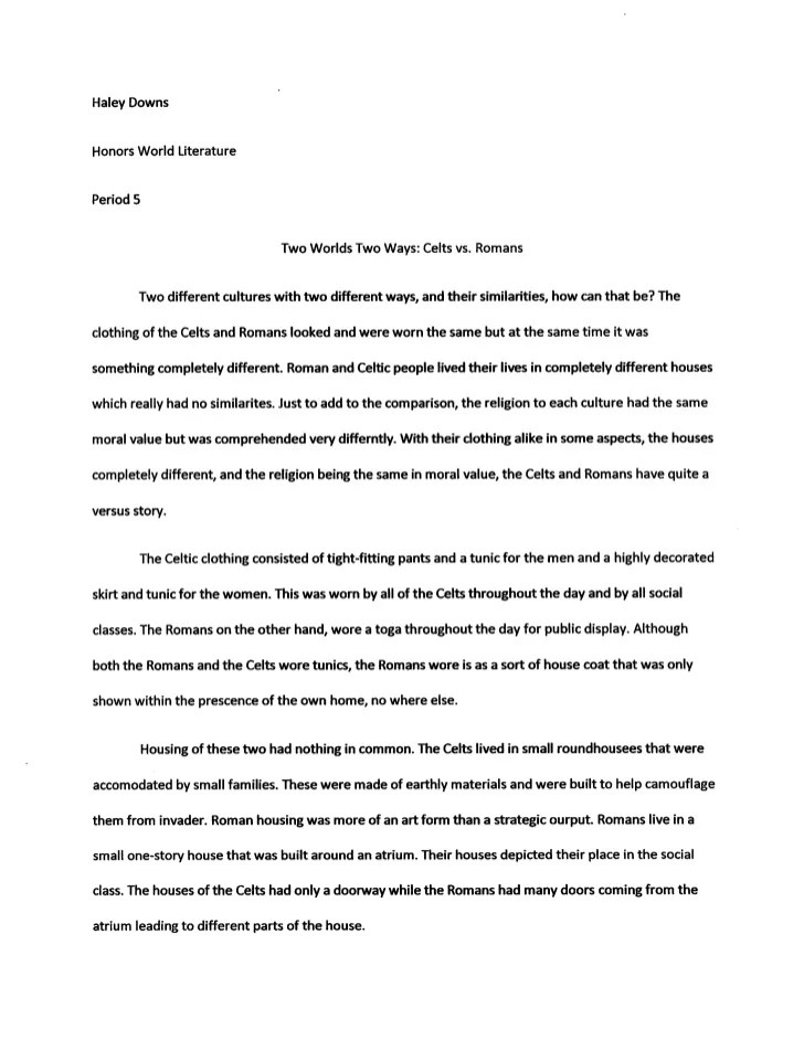 example of an introduction for a compare and contrast essay  mistyhamel examples of introductions for compare and contrast essays poemdoc or