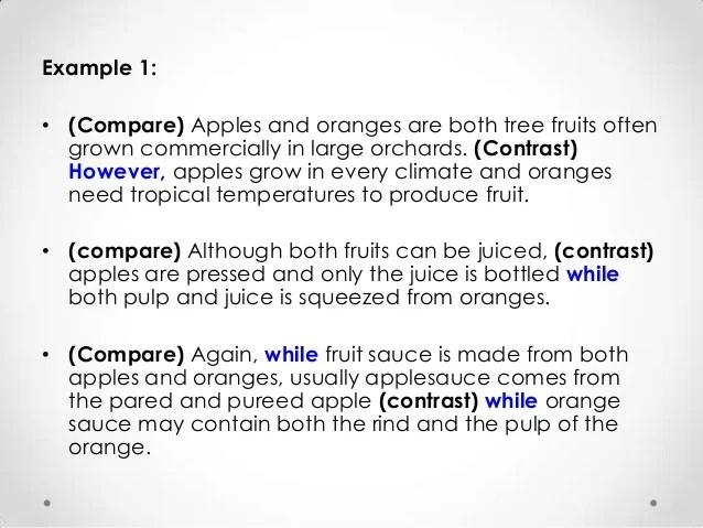 writing a compare contrast essay conclusion