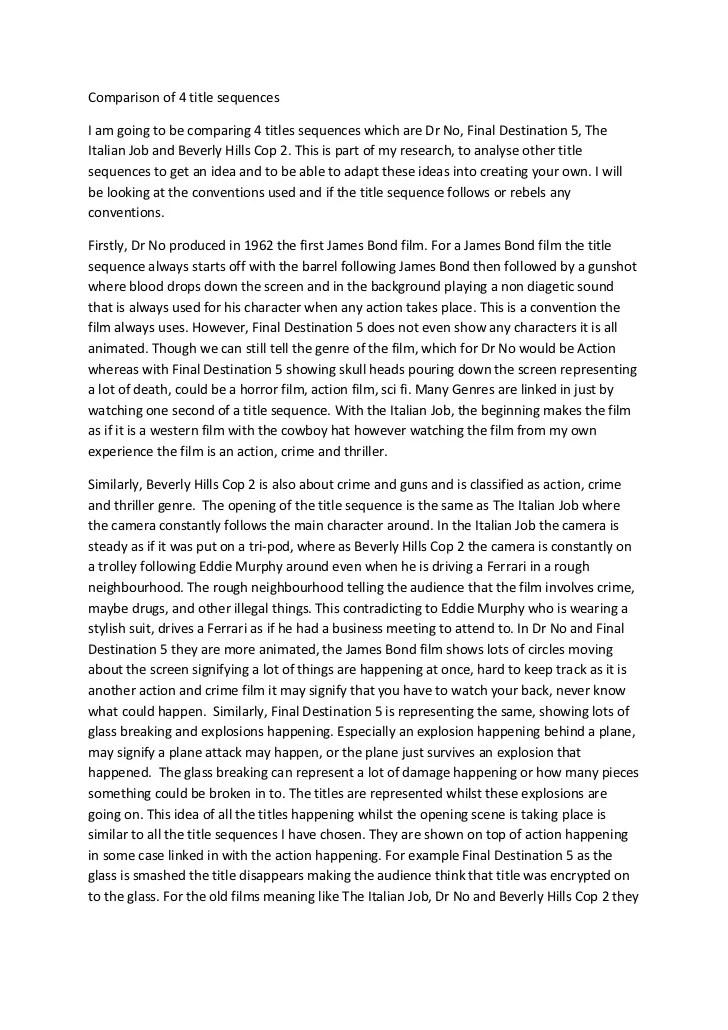 Films Essay. Resume Writer Comparison Resume Essays Writers ...