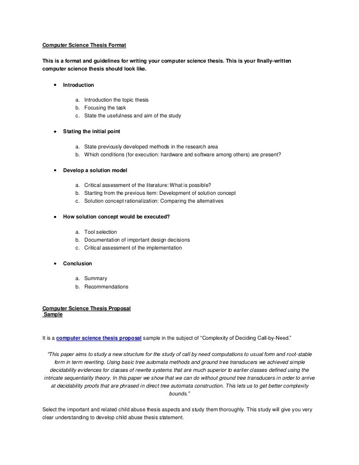 Sample computer science research proposal pdf