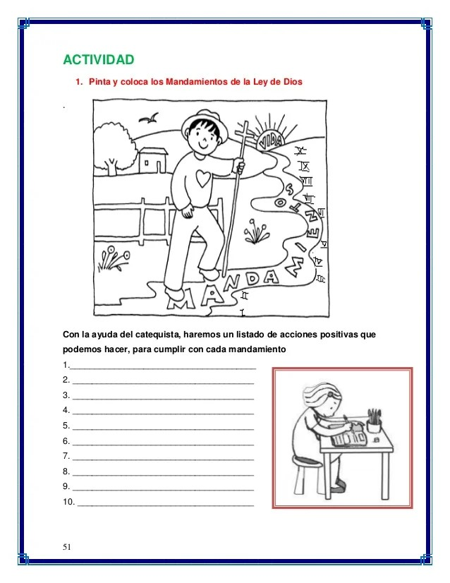 Dibujos De Los 10 Mandamientos Para Ninos