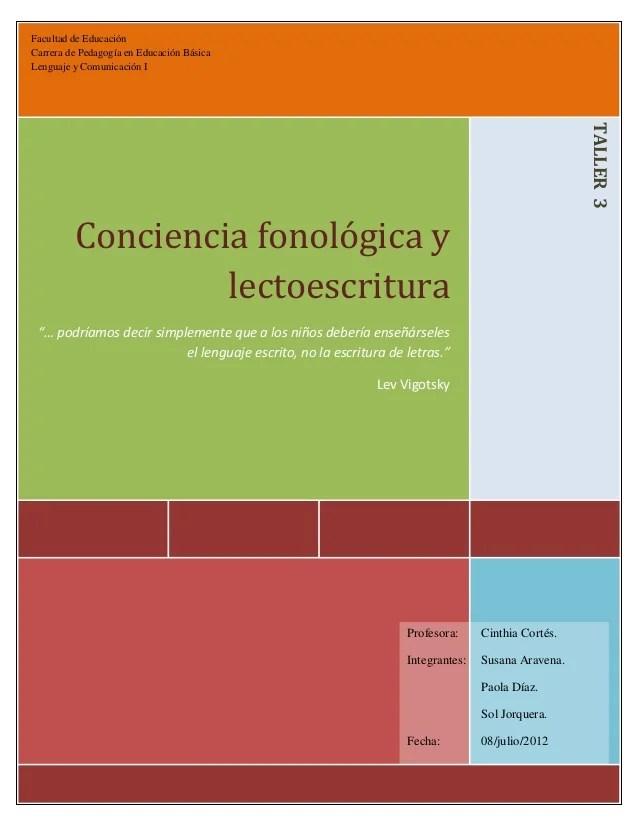 Conciencia fonológica y actividades