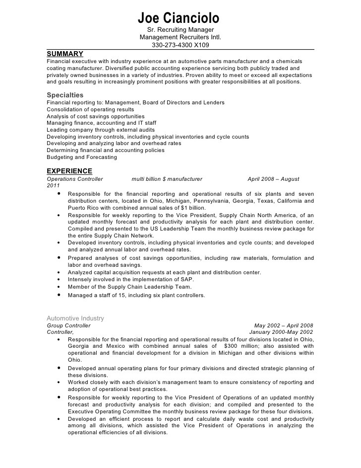 Resume Examples Document. Document Control Administrative Cum