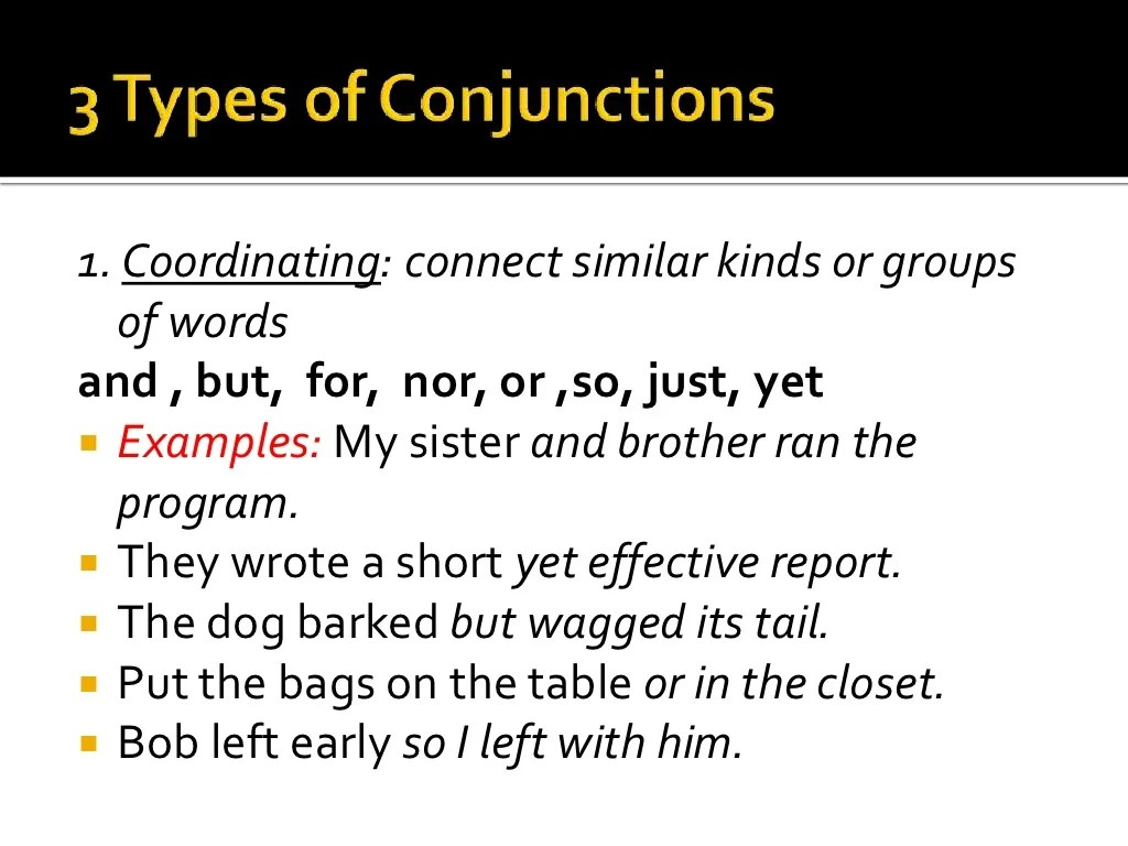 Conjunctions Amp Interjections Lesson