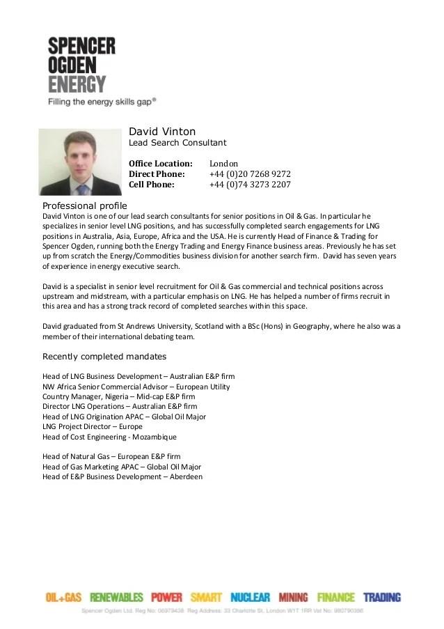 consultant profile dave vinton