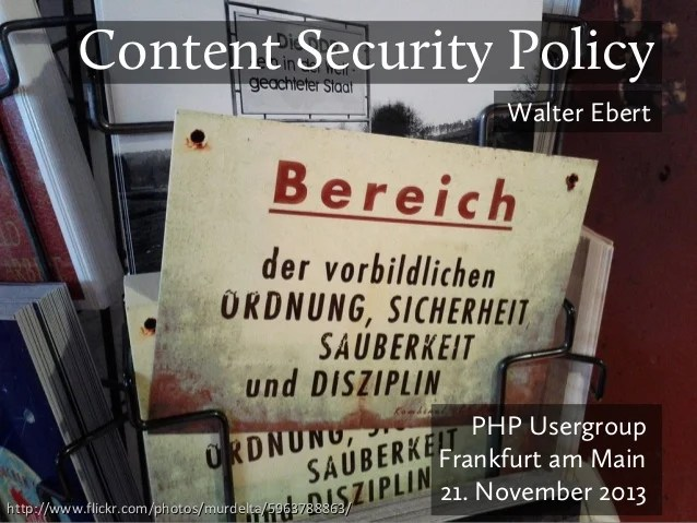 Content Security Policy 1