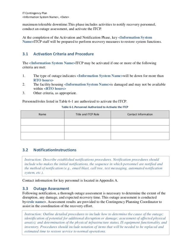 System Downtime Notification Template Free Download