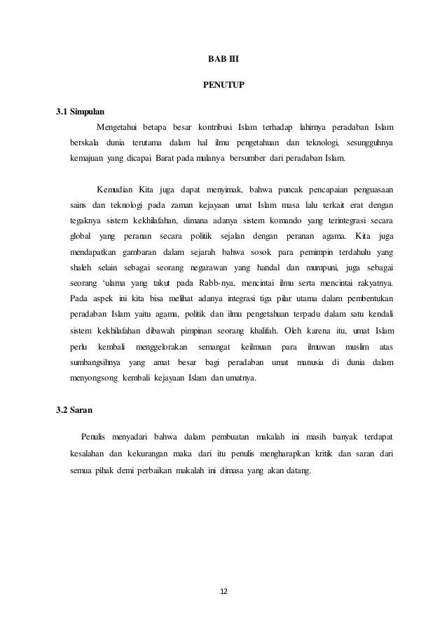 Makalah Agama Perkembangan Islam Di Indonesia Contoh Surat