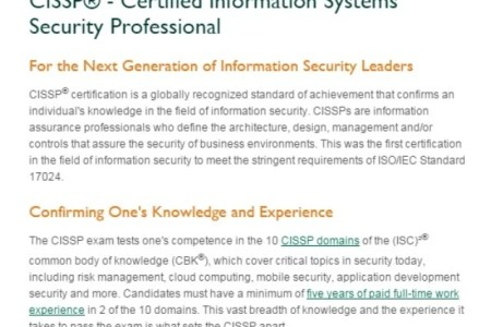 Free Resume 2018 » cissp certification requirements | Free Resume