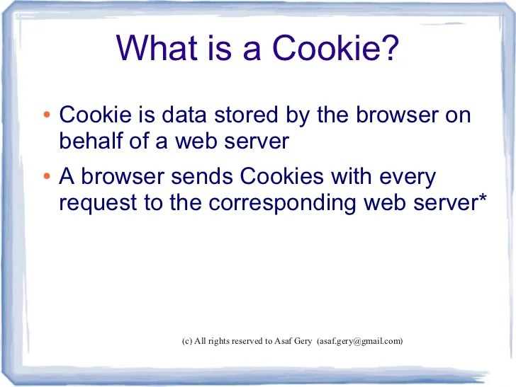 Cookies And Browser Exploits