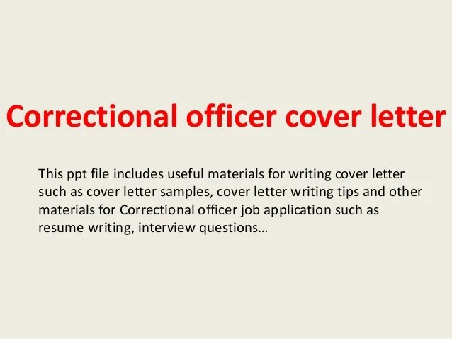 Youth Correctional Officer Cover Letter Templates
