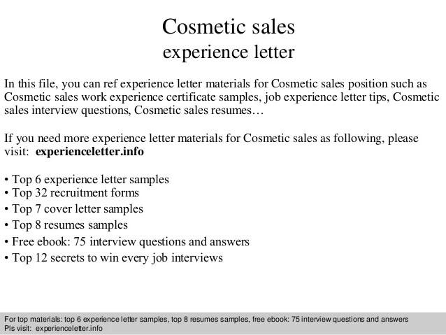 resume of cosmetic sales rep resume sample resume cosmetic ...