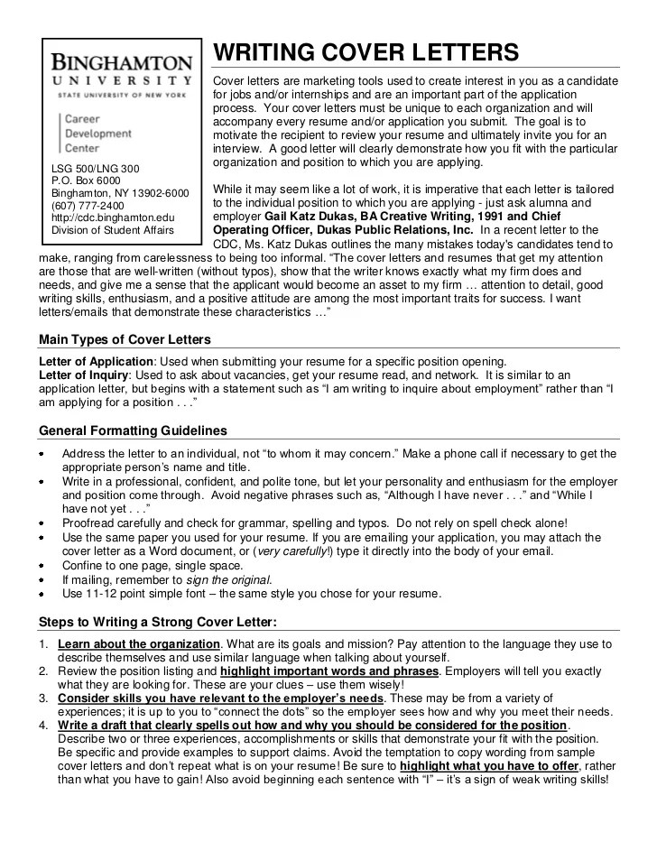 Quick Resume Cover Letter. nyu cover letters quick tips cover ...