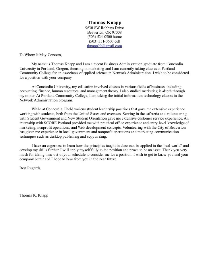 cover letter examples to whom it may concern Template – To Whomever It May Concern Cover Letter