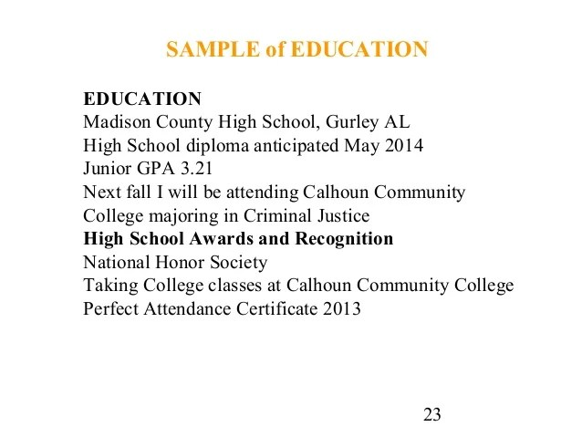 high school diploma on resume examples