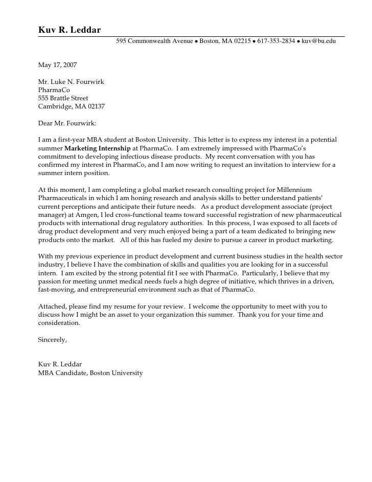 Cover letter college admission