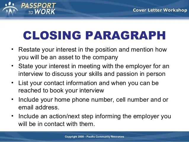 Cover-Letter Writing A Project Management Cover Letter | Closing