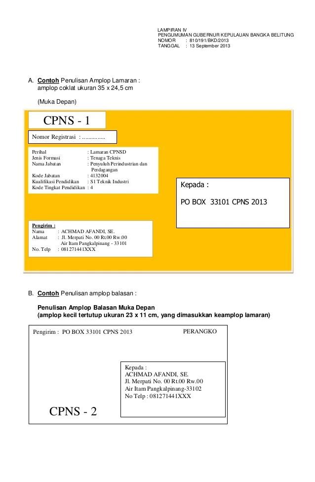 Alamat Di Amplop : alamat, amplop, Kumpulan, Pelajaran, Contoh, Amplop, Lamaran, Kerja