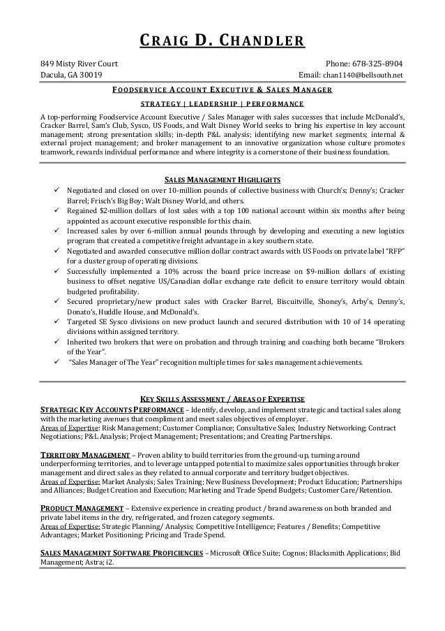 Food Service Director Resume Sample. Exle With. Sample Resume For