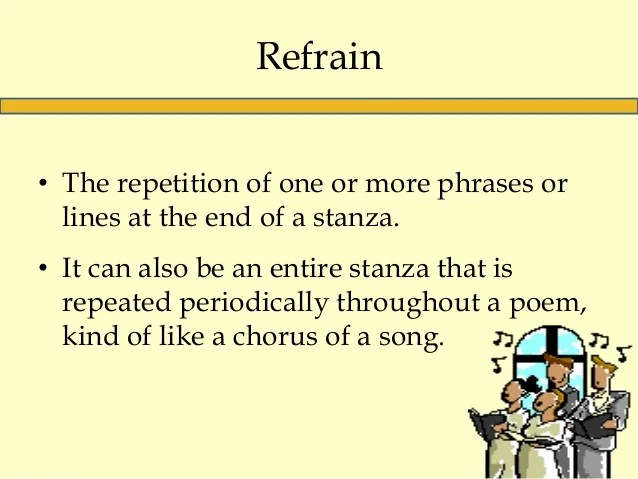 Examples Poetry Refrain