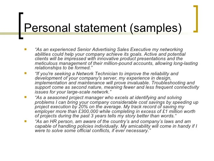 Cv Writing Tips Personal Statement