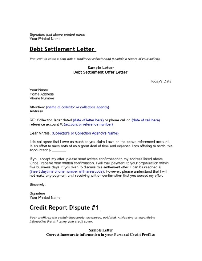 Sample debt settlement letter to collection agency inviview sample letter to collection agency settle debt newsinvitation co spiritdancerdesigns Images