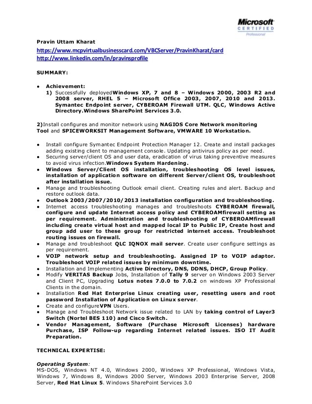 system administrator resume sample resume examples linux