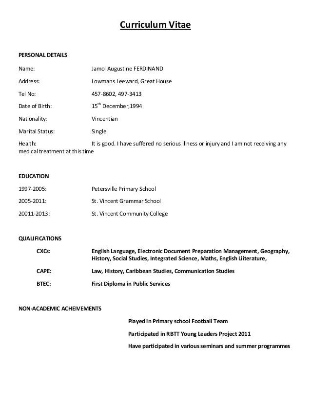 simple cv format simple cv format curriculum vitae sample