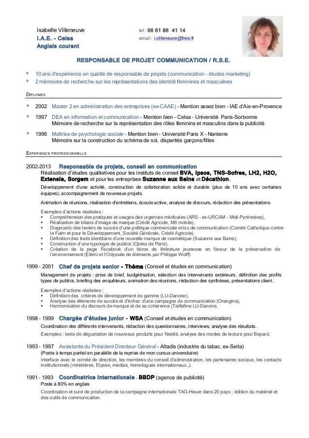 Exemple De Cv Responsable De Laboratoire De Controle En Biologie
